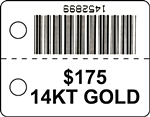 TT385 POLYESTER - THERMAL TRANSFER TAGS (832)